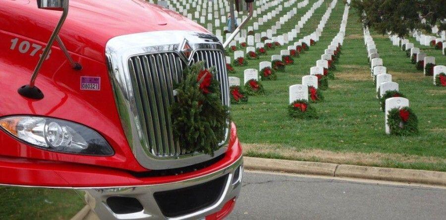 wreaths across america truck with wreath