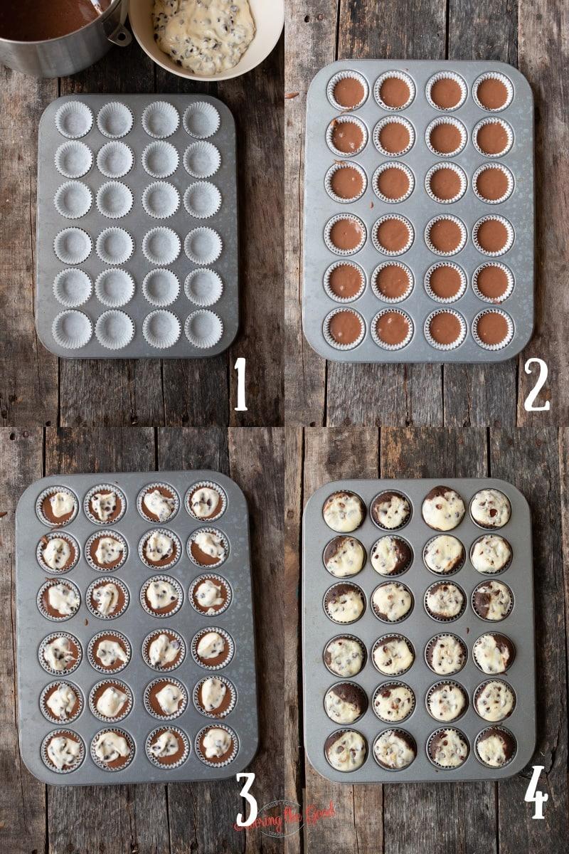 Black Bottom Cupcakes steps