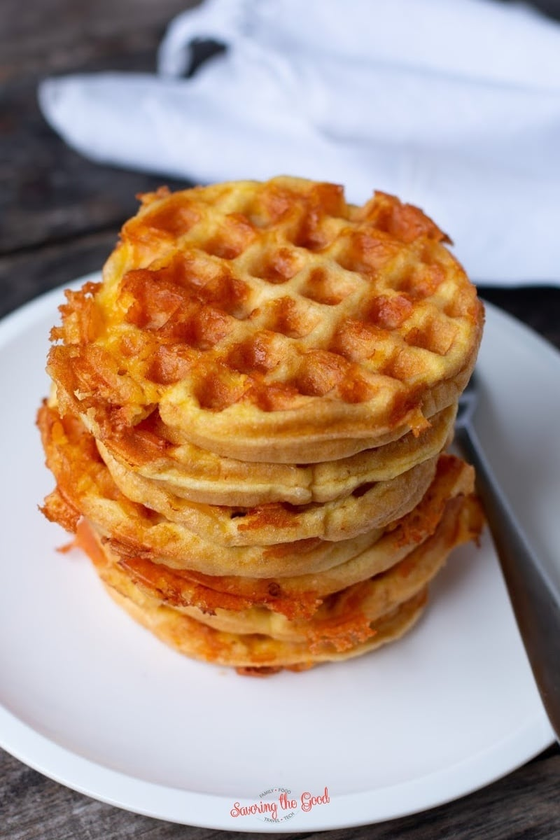 high stack of Chaffle recipe