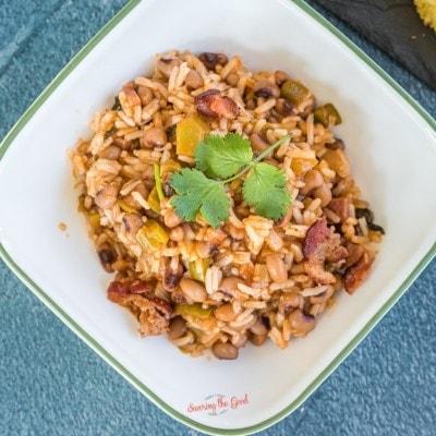 Hoppin' John (Carolina Peas and Rice) recipe square image