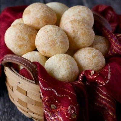 Brazilian cheese bread square