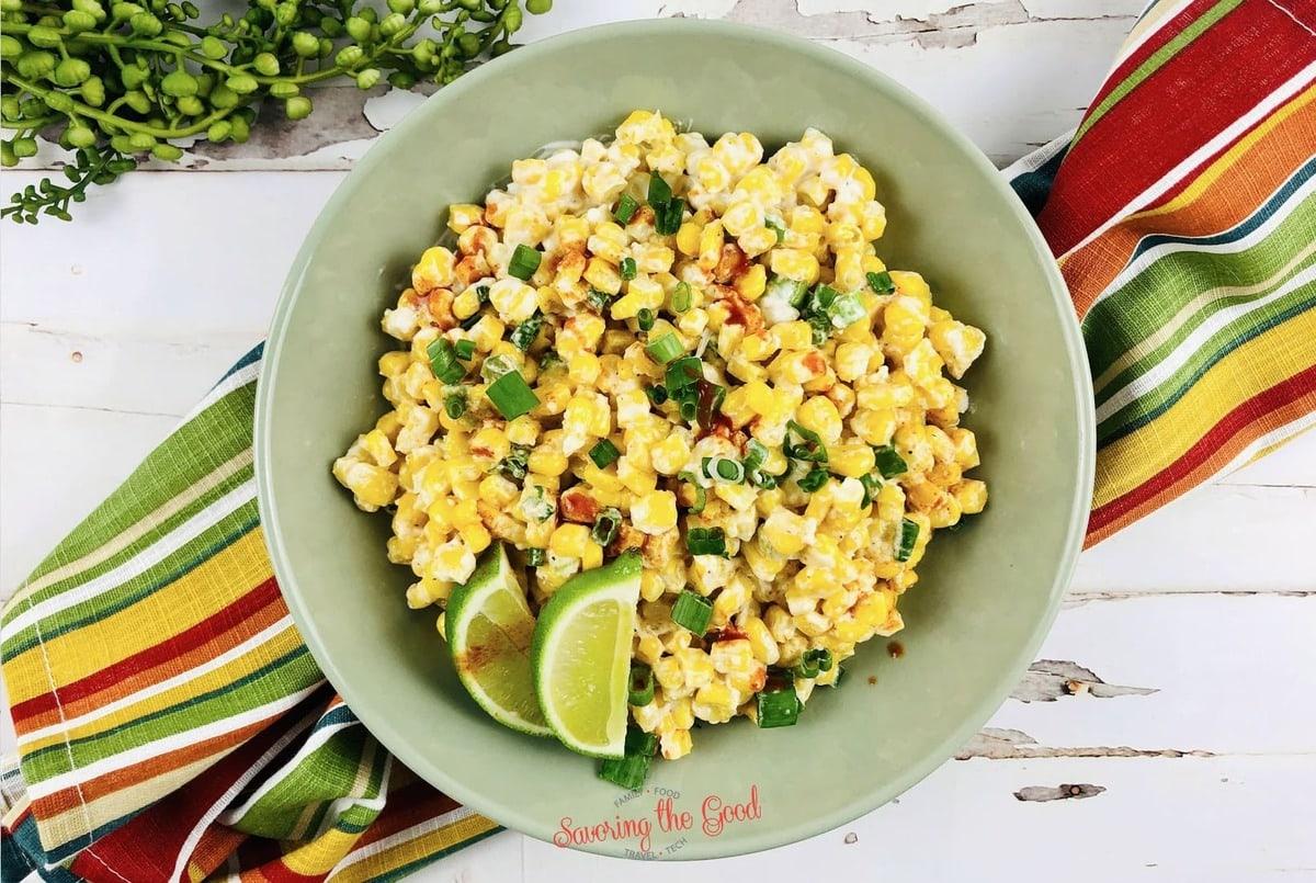 Mexican corn casserole horizontal image