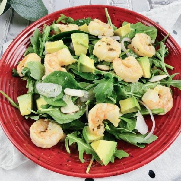 Shrimp Avocado Salad Recipe With Citrus Dressing square image