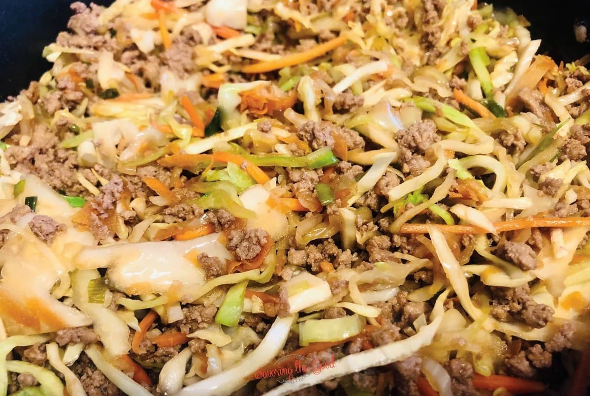 WW Egg Roll In A Bowl Recipe finished