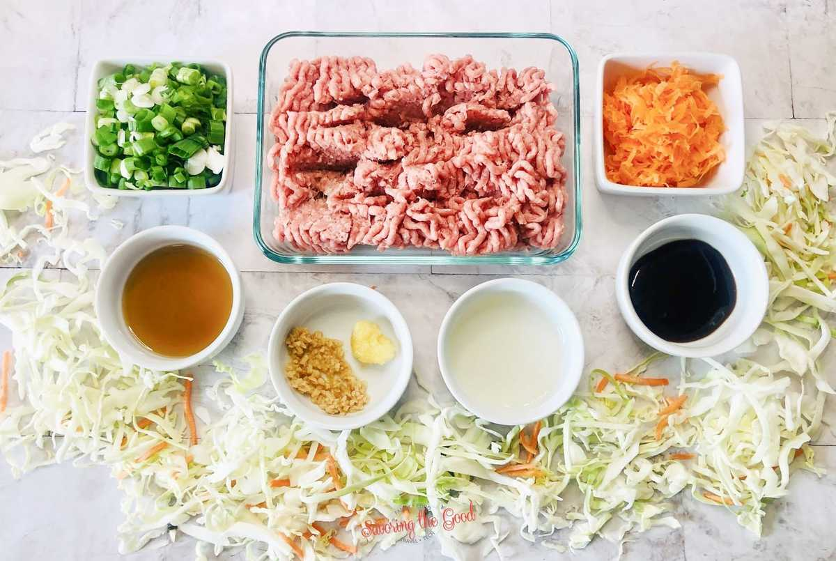 WW Egg Roll In A Bowl ingredients