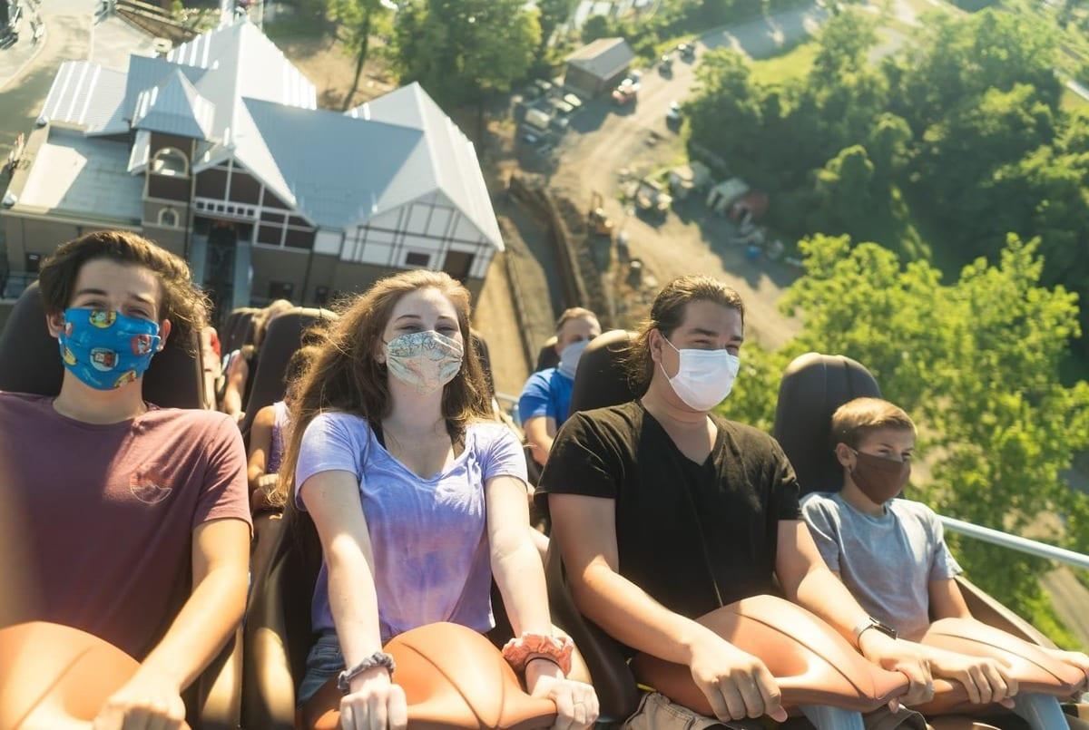 masked riders on hersheypark rollercoaster