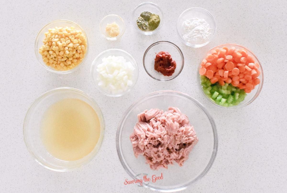 turkey shepherd's Pie ingredients