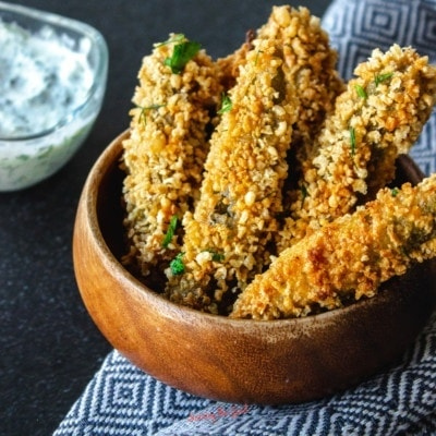 Fried Pickle Spears. Disneyland Fried Pickles square image