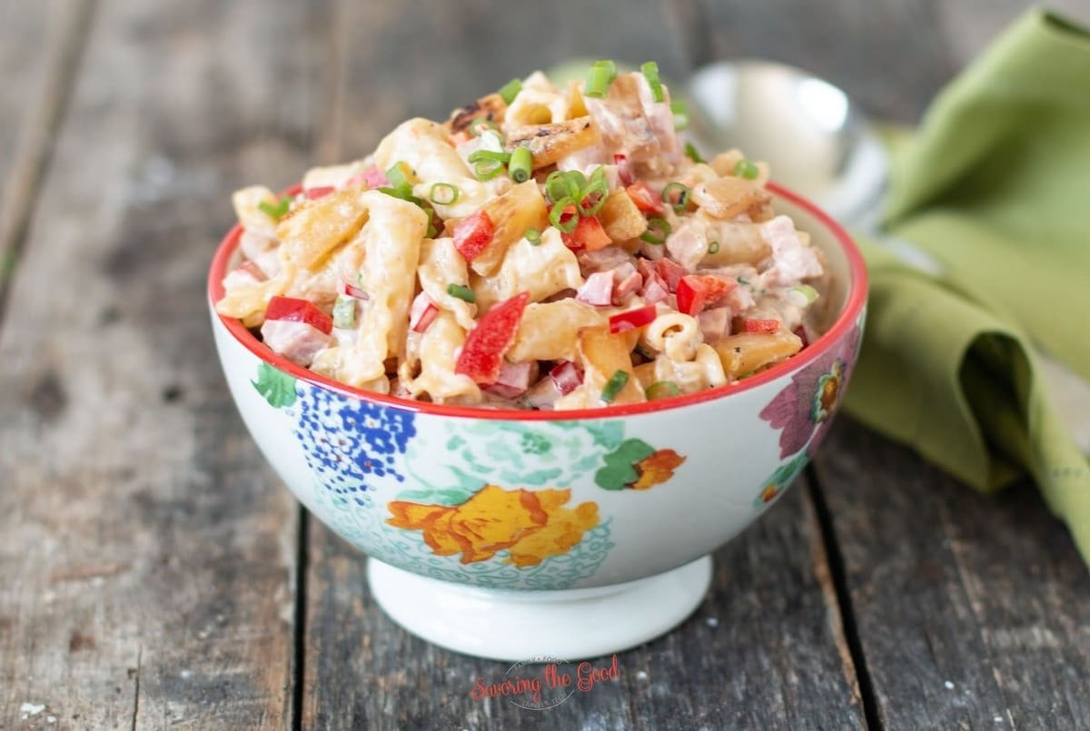 Hawaiian pasta salad horizontal image