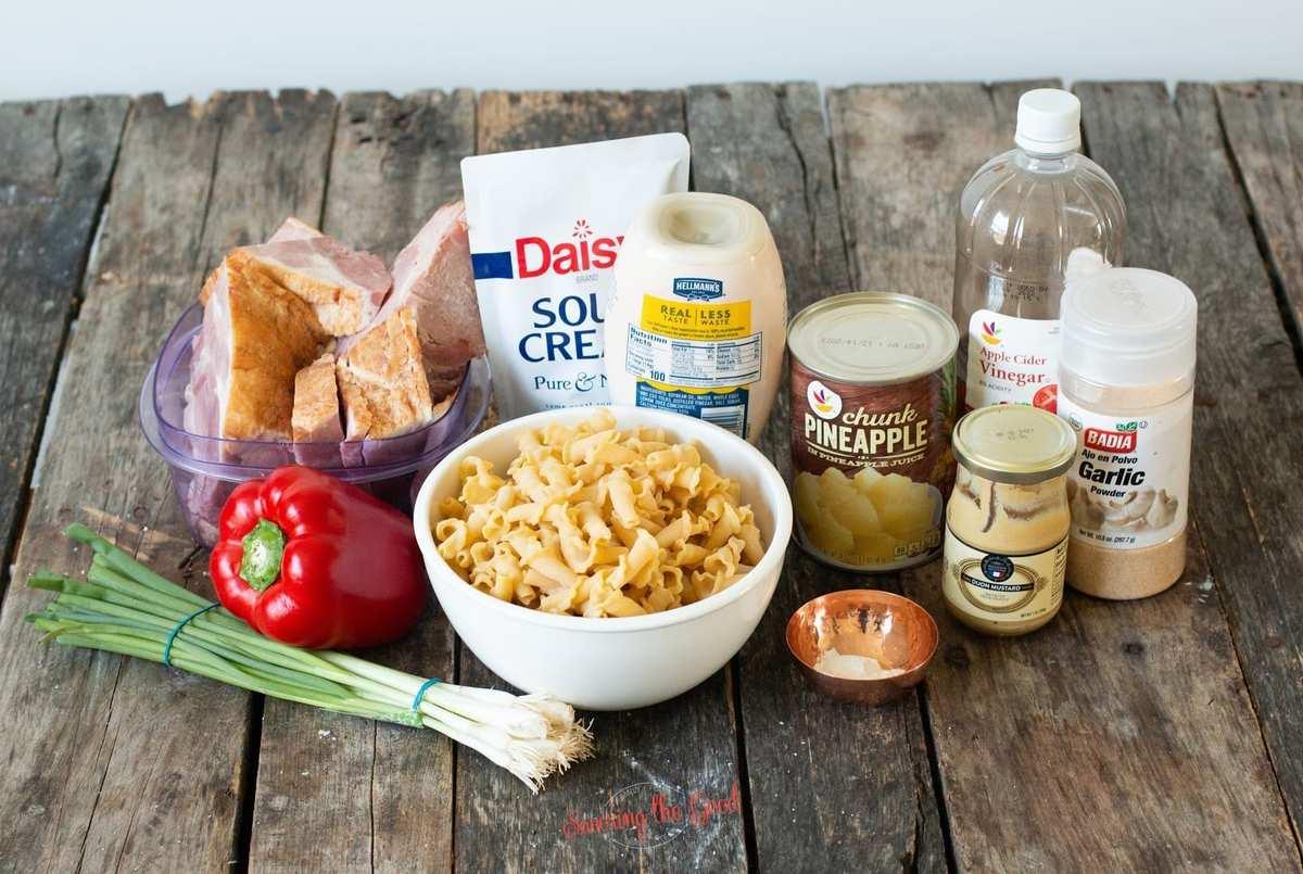 Hawaiian pasta salad ingredients