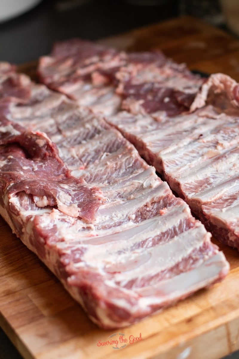 pork ribs ready to be cooked