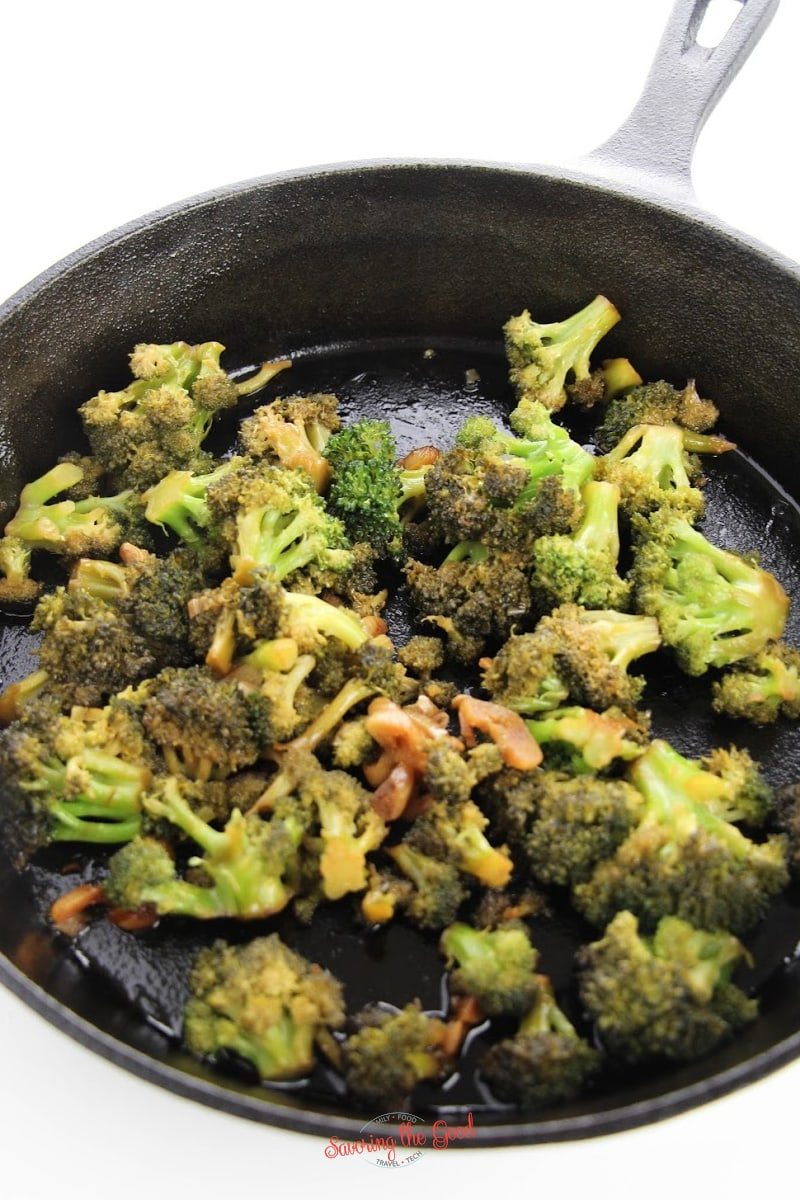 sauteeing broccoli