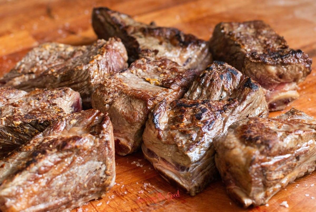 seared short ribs ready for sous vide bath