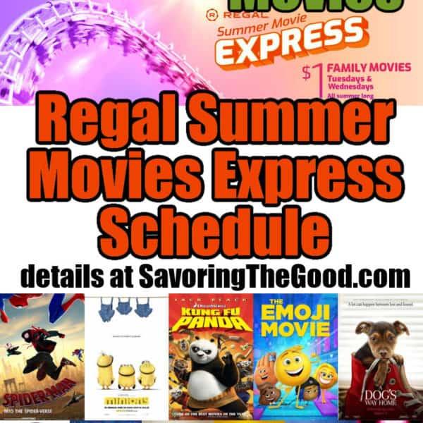 2021 Regal Cinemas Summer Movie Express Schedule