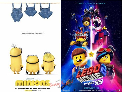 minions and lego movie 2 for regal summer movies 2021