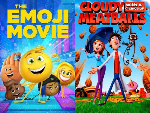 regal summer movie express dollar movies emoji moive and cloudy poster