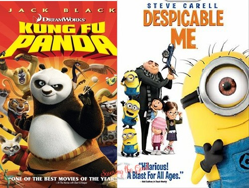 summer movie experss despicable me and king fu panda movie posters