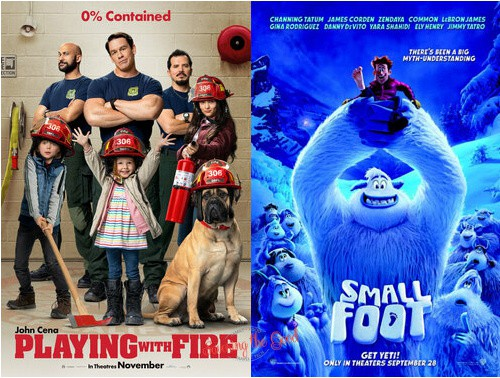 summer movie express 2021 small foot and playing with fire
