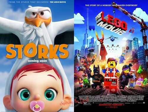 summer movie express 2021 storks and the lego movie posters regal