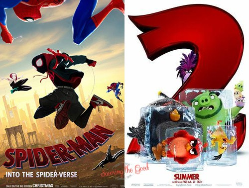 summer movies 2021 sipder man and angry birds 2