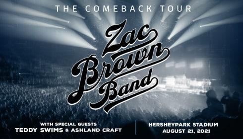zac brown band at hersheypark concert series
