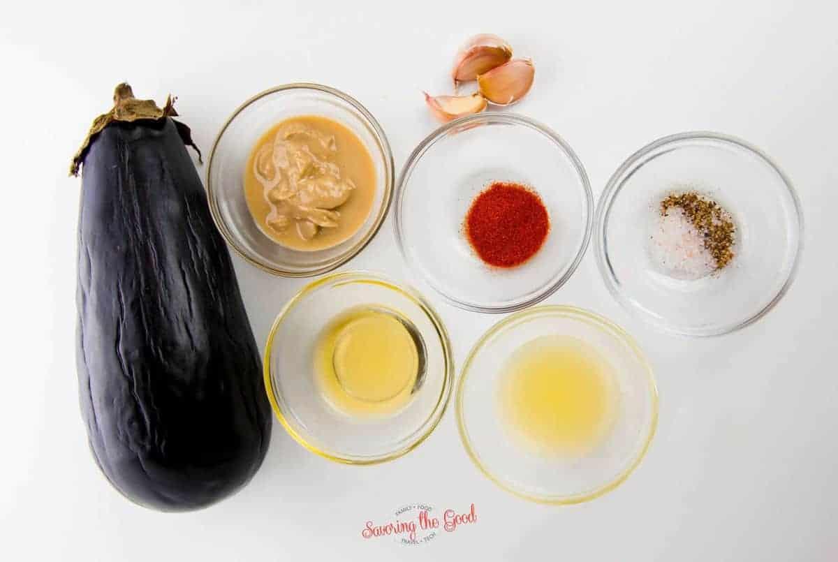Eggplant Dip ingredients