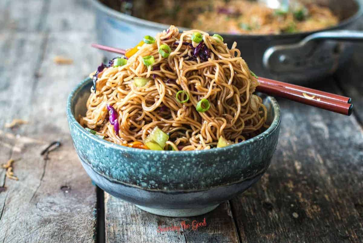 horizontal image of Ohana Noodles in a bowl