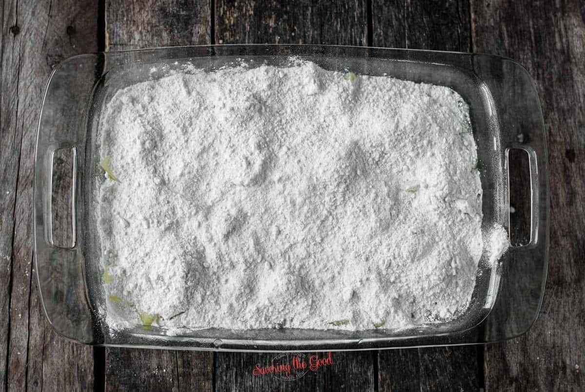 white cake mix added to Pineapple Dump Cake