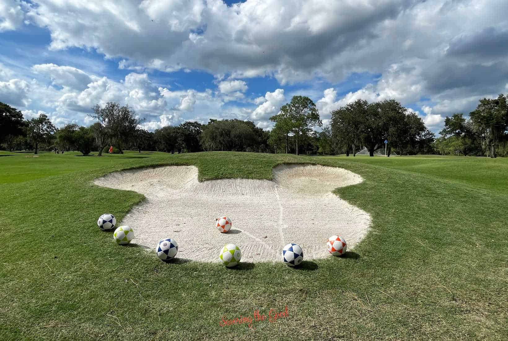 mickey head bunker for footgolf