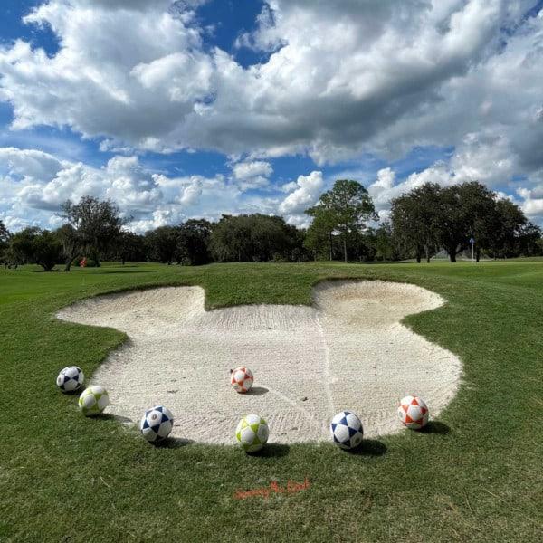 walt disney world foot golf sand trap