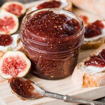 Fig Preserves in a jar