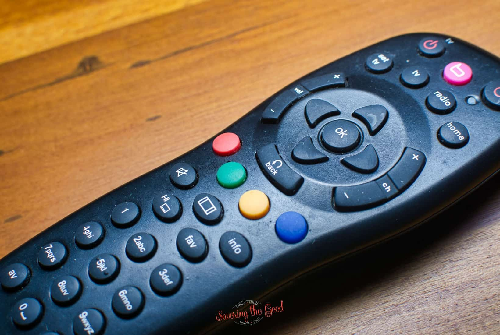 black universal remote
